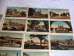 Művészi kivitelű régi képeslapok Párizs