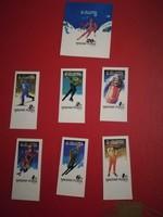 1987. Olimpia (Calgary) VÁGOTT BÉLYEG SOR +BLOKK **