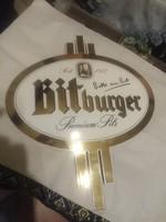 Bitburger Prémium Pils Zománc reklámtábla 46 x 40 cm Hibátlan