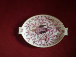 Herend bowl, ashtray, jardin zoologique purpur (zopr)