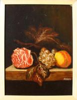 Moona - Csendélet rózsával,szőlővel,barackkal BORMAN festényének másolata