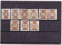 Magyar portó bélyegek 1951