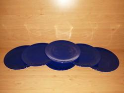 Kék színű porcelán kistányér készlet 6 db egyben 20 cm (2p)