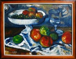 Moona : Csendélet CÉZANNE festménye után
