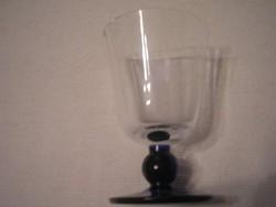 2 db likőrös pohár vastag talpú golyón ülő ritkaság hibátlanok egyben eladóak