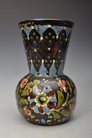 Hódmezővásárhelyi majolika váza, HMV  Csenki I. 1930-as évek.2
