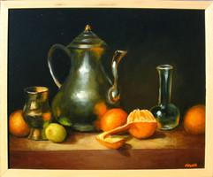 Moona Csendélet déli gyümölcsökkel EREDETI Moona festmény