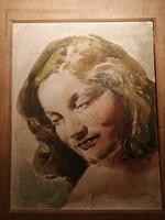 Akvarell női portré
