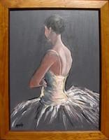 Moona - Balett-táncos EREDETI olajfestmény