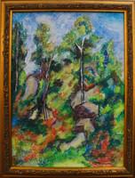 Moona - Fák a sziklákon CEZANNE festményének másolata