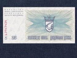 Bosznia-Hercegovina 25 Dínár bankjegy 1992 UNC (id12946)