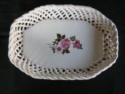 Bodrogkeresztúri kerámia rózsás tál