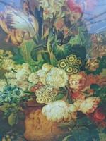 Jan Van Huysum világhírű festő múzeumi másolata vászonon 62 x 50 cm hibátlan