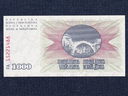 Bosznia-Hercegovina 1000 Dínár bankjegy 1992 UNC (id12948)