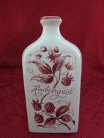 Német porcelán, szederpálinkás üveg, 0,7 l, magassága 20 cm.