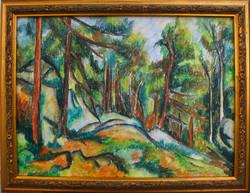 Moona - Fenyőerdőben CEZANNE festményének másolata
