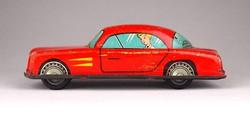 1C128 Antik lemezárugyári piros Meteor lendület autó 16 cm