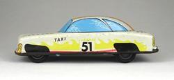 1C130 Antik lemezárugyári fehér taxi Meteor lendület autó 16 cm