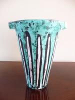 Gorka Lívia türkiz színű váza