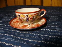 A07 Japán tojáshéj porcelán csésze+ alj