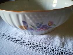 Nagy méretű Zsolnay porcelán tál