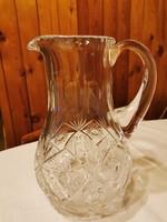 Ólomkristály boros, vizes kancsó gyönyörű 22 cm magas
