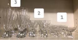 3. 6 db-os Ünnepi csiszolt kristály pohár készlet csillag mintás pezsgős