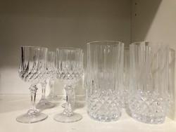 6 db-os Ünnepi gyönyörűen csiszolt kristály feles pohár készlet