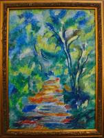 Moona - Lépcsős erdei út CEZANNE festményének másolata
