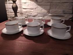 1940-es évekből Zsolnay arany szegélyes kávés szett