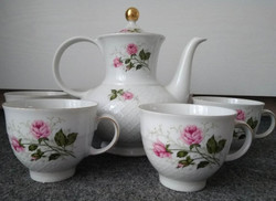 Seltmann Weiden porcelán kávés készlet rózsa mintával