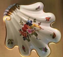 """HEREND """"Bouquet de fruits""""mintával kagyló kínáló-1976.-ból"""