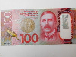 Új Zéland 100 dollár 2018 UNC Polymer