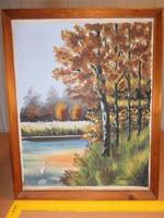 Folyópart  kép festmény eladó