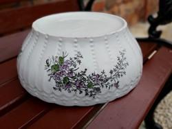 Gyönyörű ritka  30 cm-es Ibolyás porcelán pogácsás tál, Gyűjtői darab
