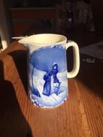 Angol Roselle Blue Ware , kék, mesés porcelán kiöntő