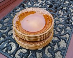 Ritka barna  gyöngyös ,gyöngysoros,Gránit tányérok, tányér, nosztalgia darab, paraszti dekoráció
