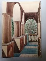 Szőnyi Jenő akvarell