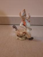 Herendi Fiú kakassal, kakasos fiú porcelán figura