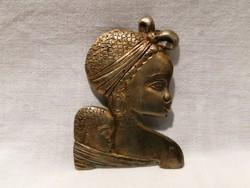 Ezüst nagyobb bross, 49 gramm, Afro anya gyermekével