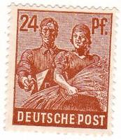 Németország közös szövetségi megszállási övezet forgalmi bélyeg 1947