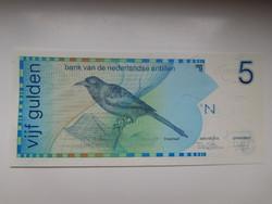 Holland Antillák  5  gulden 1986 UNC  Nagyon Ritka!!