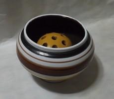 Iparművészeti ikebana váza ,nagyon szép