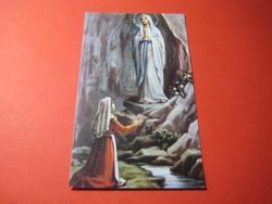 Lourdi  Szűzmária ,  szentkép    57   x 98 mm