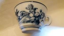 Gyönyörű vastagfalú porcelán teáscsésze párban