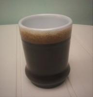 Sötétbarna Városlődi kerámia pohár/váza