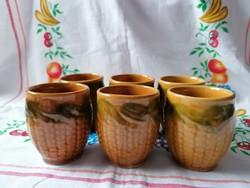 Kukorica mintás pohár készlet 6 db