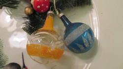 Régi üveg karácsonyfadísz gömbök
