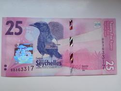 Seychelle szigetek 25 rupees 2016 UNC