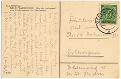 Képeslap Németország Amerikai-Brit-Szovjet megszálási övezet 1947